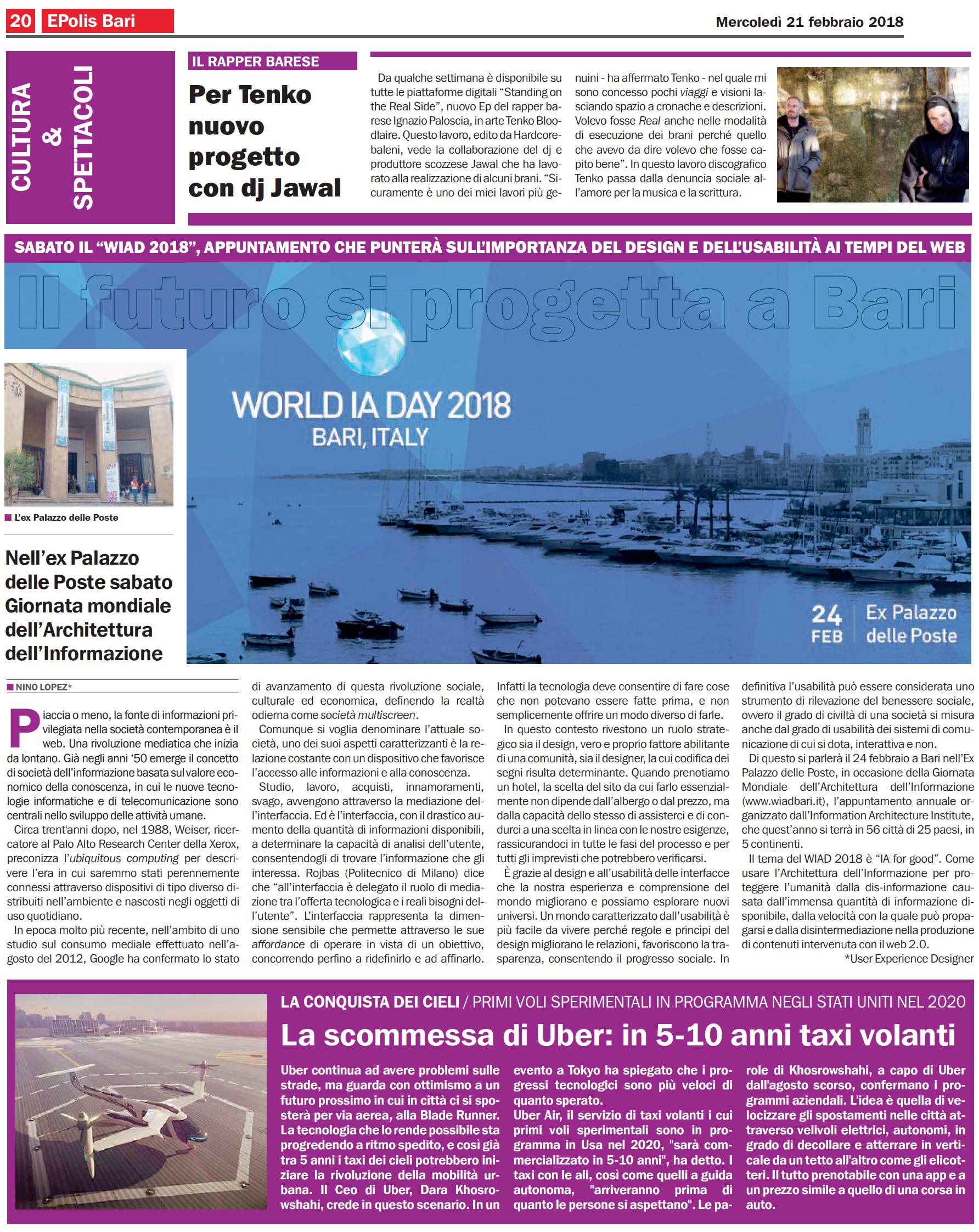 Articolo su Design e Usabilità. ePolis Bari